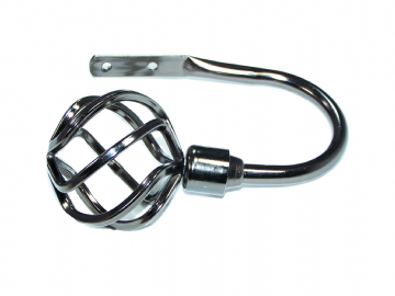 Graphite Black Nickel Twisted Cage Curtain Tiebacks / Holdbacks.